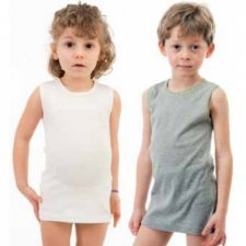 Kids singlet in organic cotton
