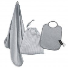 Preschool set: towel+bag & BIB XL in organic bamboo