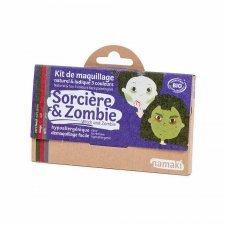 Kit make up bio 3 colori Strega & Zombie