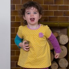 Spotty tunic in organic cotton