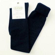 Knee high light socks in dyed organic cotton