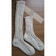 Knee high socks in natural wool and alpaca wool