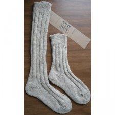 Knee high socks in natural wool and alpaca wool