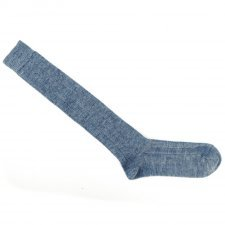 Knee high socks in wool and organic cotton
