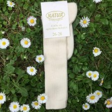 Knee-high thin socks in organic cotton