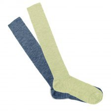 Knee high thin socks in wool and organic cotton