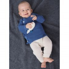 Knitted baby leggings in organic virgin wool