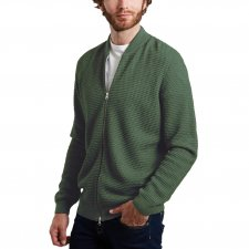 Knitted cardigan with zip Field in organic cotton