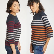 Knitted jumper Sail La Vie in organic cotton and wool