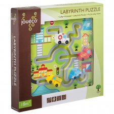 Labyrinth puzzle in wood Town