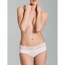 Laize mid waist briefs with lace in organic cotton