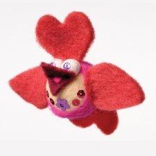 Kit Mobilaria: uccellino Love in lana naturale fai-da-te