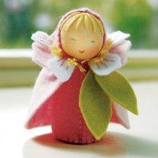 Kit Bamboline delle Stagioni: Fiore di Ciliegio in lana naturale fai-da-te