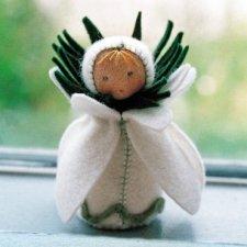 Kit Bamboline delle Stagioni: Bucaneve in lana naturale fai-da-te