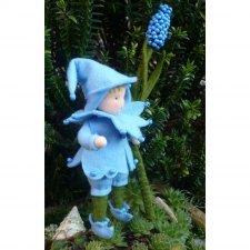 Kit Bambini dei Fiori: Giacinto Blu in lana naturale fai-da-te