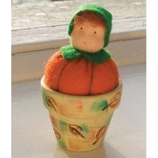 Kit Bamboline nel Vaso: Zucca in lana naturale fai-da-te