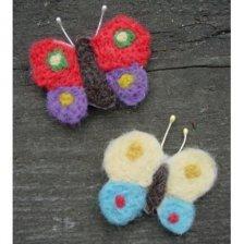 Kit Spille: Farfalle in lana naturale fai-da-te