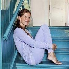 Lavender woman pyjamas in organic cotton terry