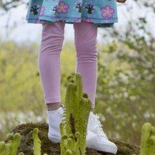 Leggings bimba corti in cotone biologico