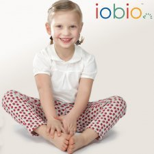 Legging Popolini blueberry in organic cotton