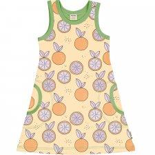 Girls dress in organic cotton - citrus sun