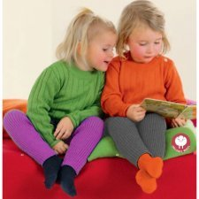 Legging bimba Disana a costine in lana merino biologica