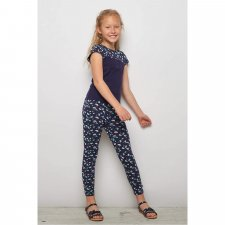 Leggings bambina Koala blu in cotone biologico