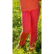 Leggings bambina Ibisco in 100% lana biologica