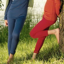 Leggings children in organic wool and silk.