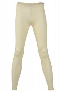 Leggings donna Bianco Naturale in lana biologica e seta