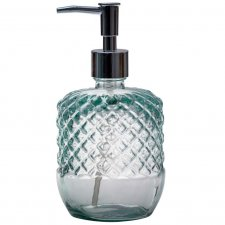 Liquid soap dispenser in recycled glass