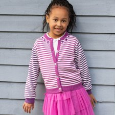 Little heart cardi in organic cotton for children