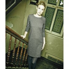 Dress Andrea with long sleeve  in hemp