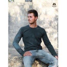 Long sleev denim blue shirt for men in hemp