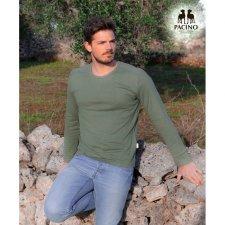 Long sleev green shirt for men in hemp