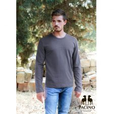 Long sleev grey shirt for men in hemp