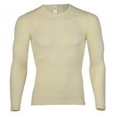 Long sleeve shirt white in pure merinos organic wool