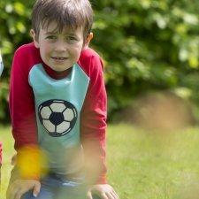 Long sleeve boy shirt Soccer in organic cotton