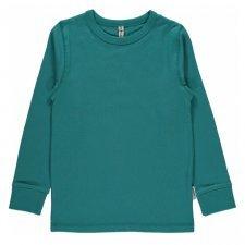 Long sleeve shirt Soft Petrol in organic cotton