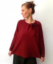 Long sleeve sweat shirt Amanda in fair trade organic cotton