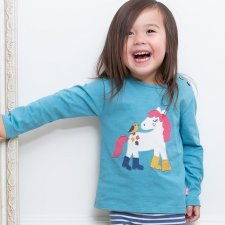 Long-sleeved shirt in organic cotton with pony