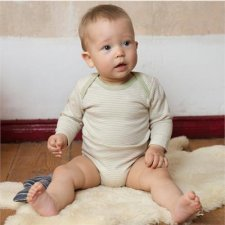 Long sleeves bodysuit in organic cotton
