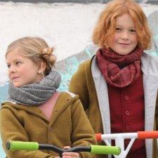 Loop scarf Disana for children in merino wool