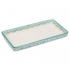 LOU tray in hand painted glazed ceramic
