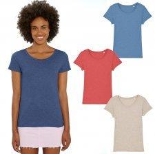 Lover T-shirt in organic cotton melange