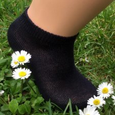 Low cut socks in coloured organic cotton