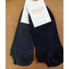Low cut socks in dyed organic cotton
