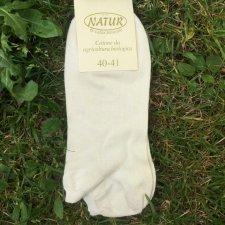 Low cut socks in natural organic cotton