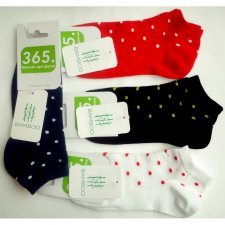 Low cut socks Dots in bamboo
