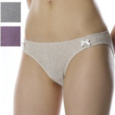 Low waist briefs in natural ribbed cotton